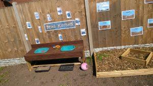 Victoria School Nursery Mud Kitchen